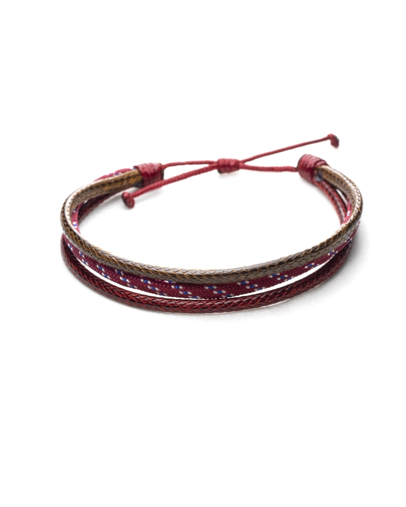 Brown Cherry Paracod Bracelet with Knot Method