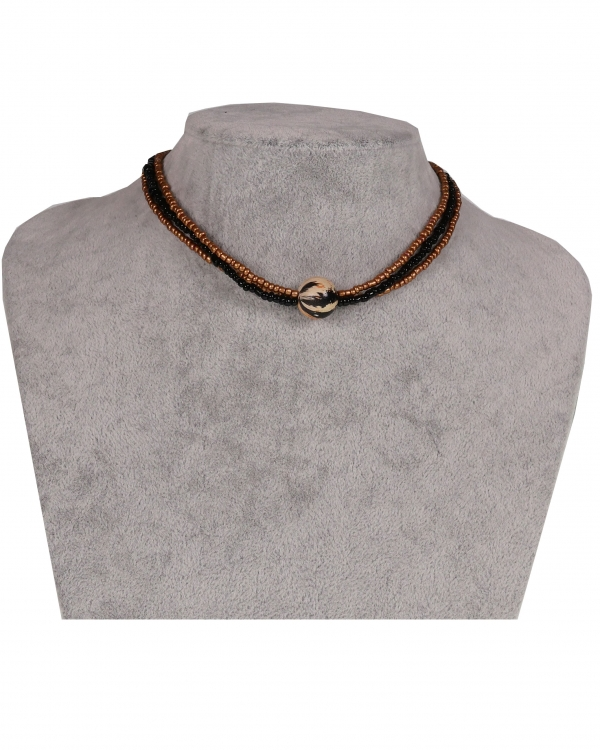Combo BeadedChoker with different beads and crystals