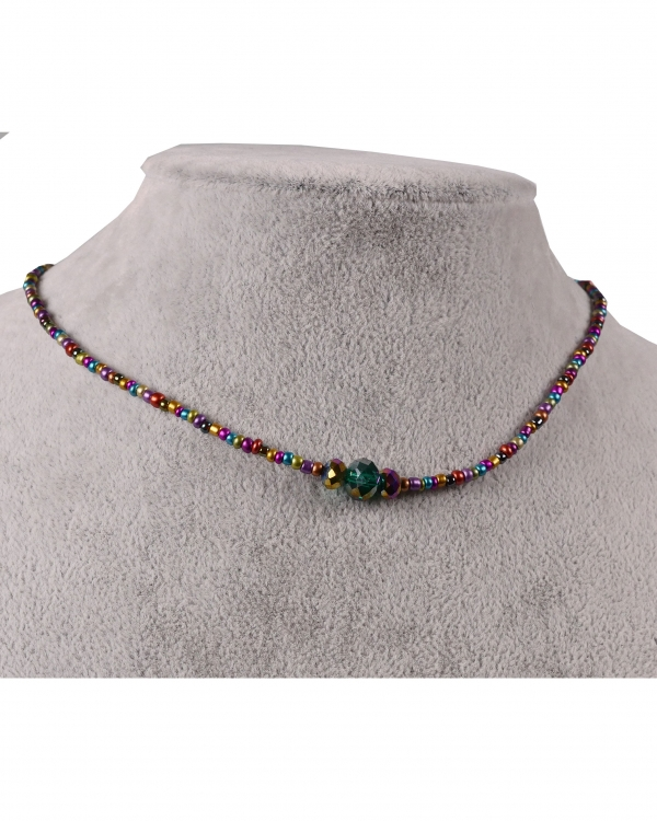 RainBow Choker Margele Colorate