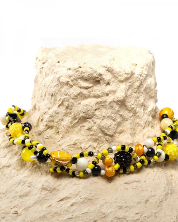 Yellow Colier Margele de Vara