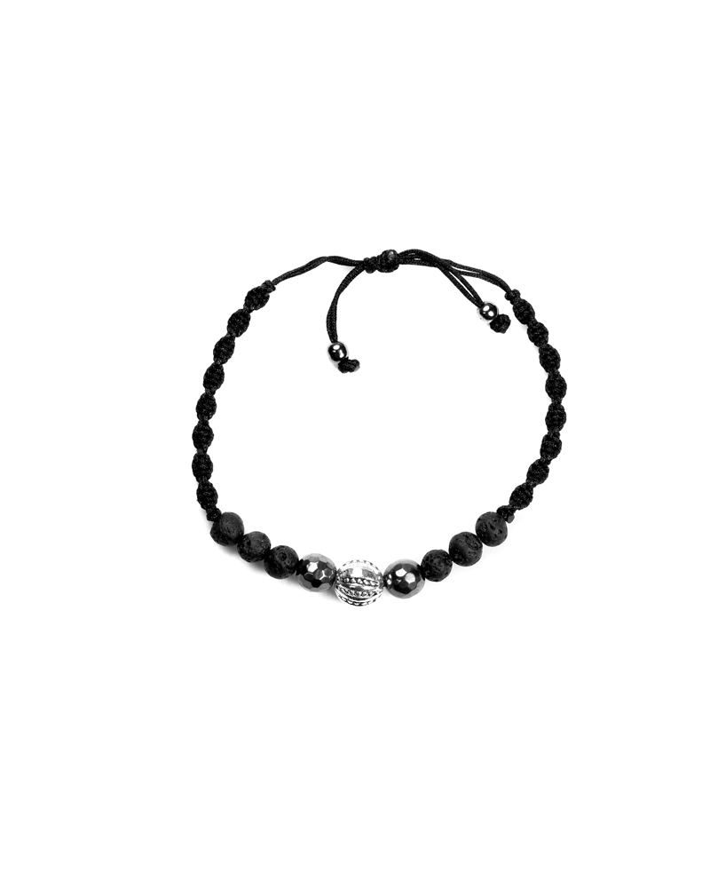 Aeson Bracelet with Black Rope Knot Sistem
