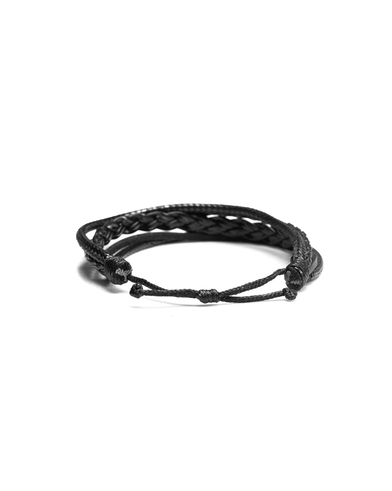 Origins Leather Bracelet with quality materials of black color