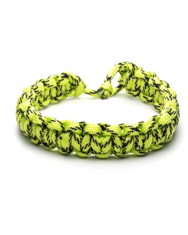 Green Hornet Paracod Bracelet made of yellow/green paracod