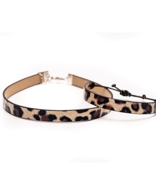 Leopard - Set bratara si choker