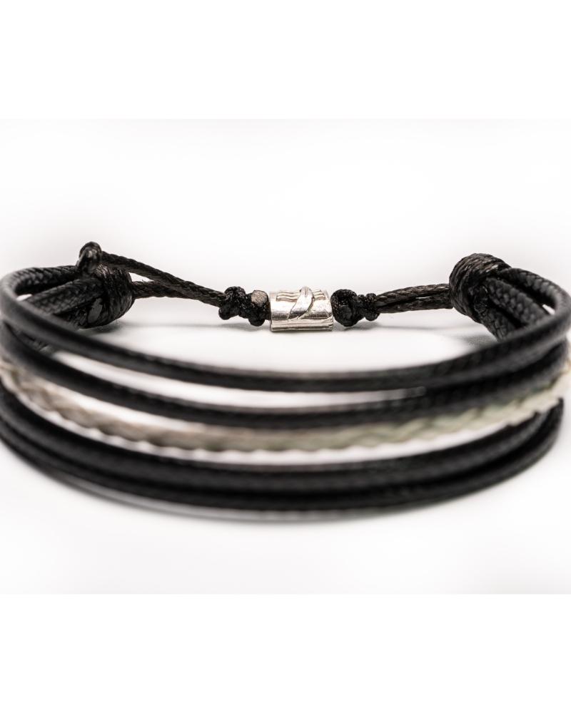 Black&White Bratara Piele Unisex